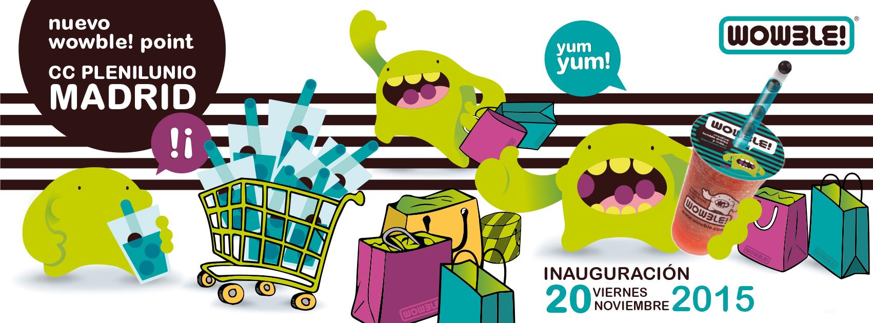 Wowble! gratis en la nueva tienda del Centro Comercial Plenilunio