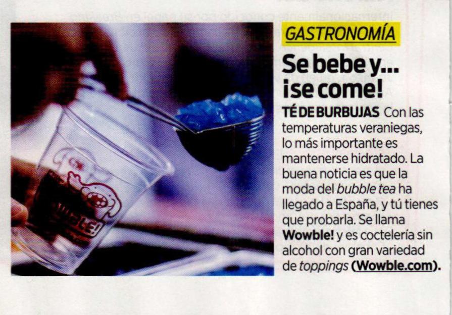 """Revista Intouch: """"Se bebe y… ¡se come!"""""""