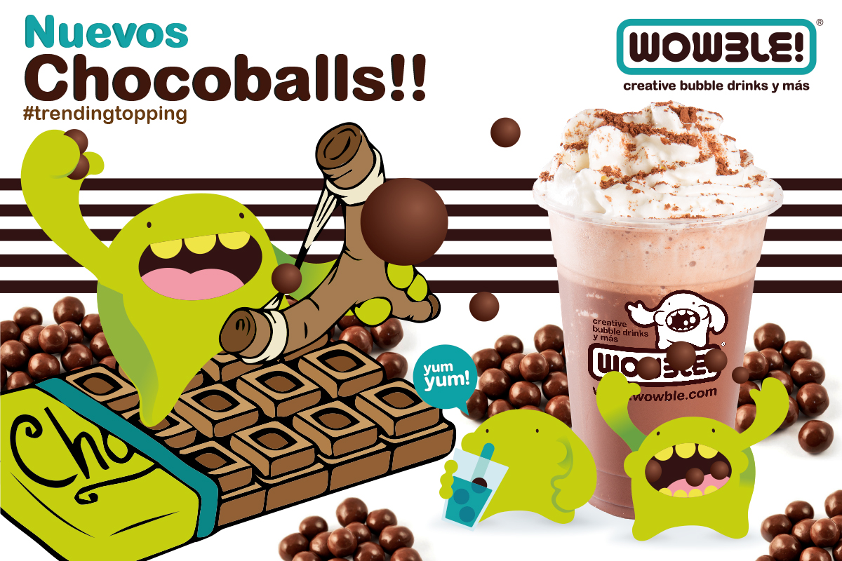 Los Chocoballs, el nuevo topping de Wowble!