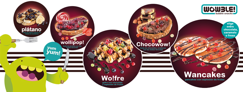 ¡Nuevos productos bubble snacks de Wowble!