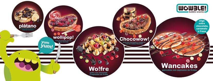 ¡Nuevos productos bubble snacks de Wowble!