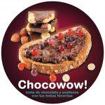 tosta de chocolate y avellanas con tus bobas favoritas